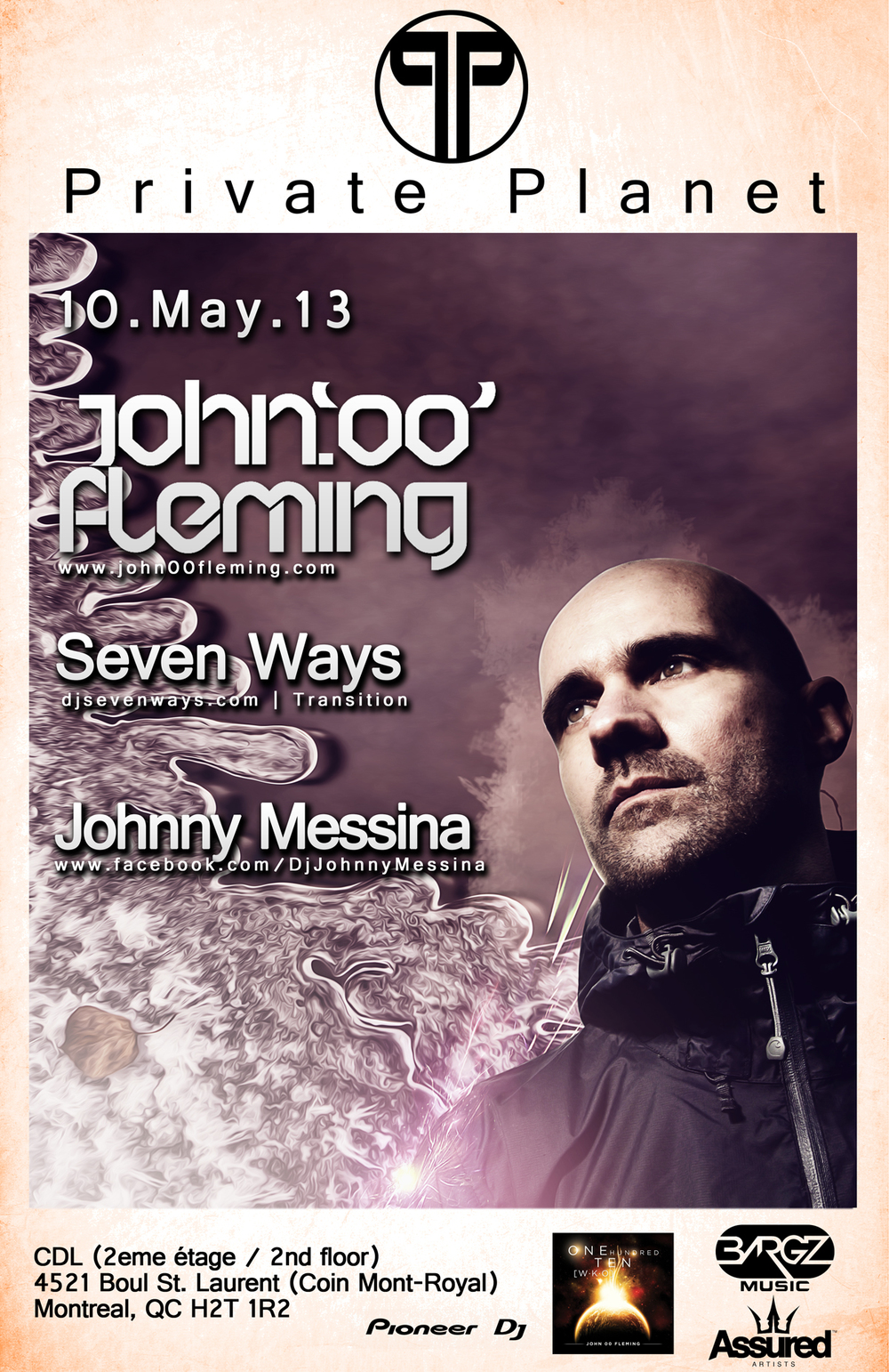 John '00' Fleming, Seven Ways, Johnny Messina CDL Montreal