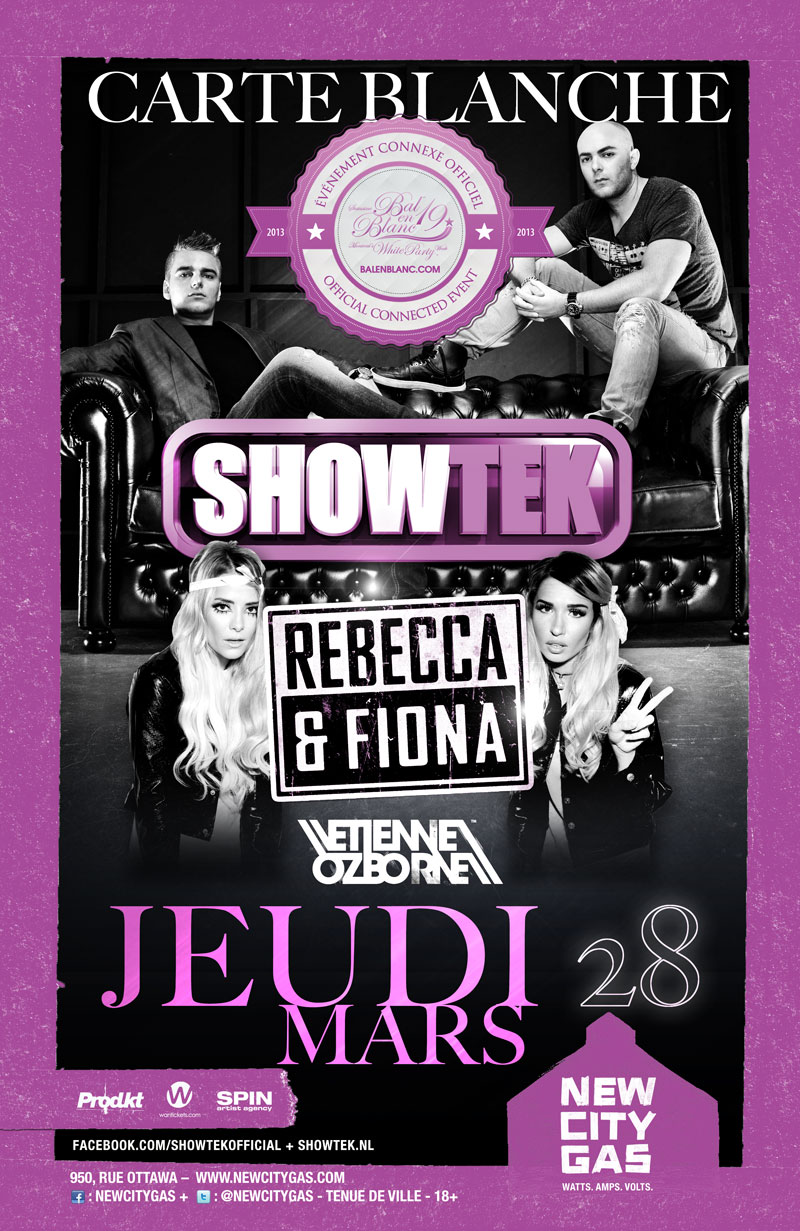 Showtek w/ Rebecca and Fiona at New City Gas Montreal