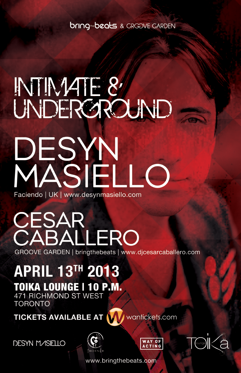 Desyn Masiello, Cesar Caballero Intimate and underground Toronto at Toika Lounge