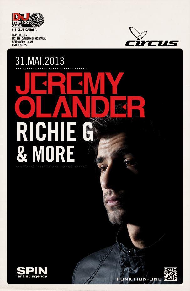 Jeremy Olander w/ Richie G Circus Monteal