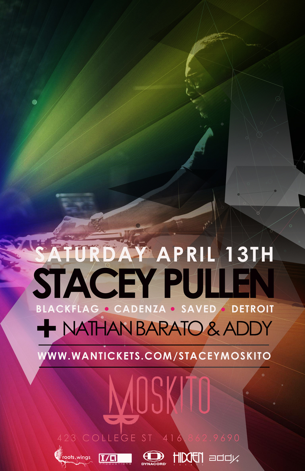 Stacey Pullen w/ Nathan Barato, Addy Moskito Toronto