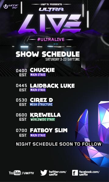 UMF Day 5 with Chuckie, Laidback Luke, Cirez D, Krewella, Fatboy Slim