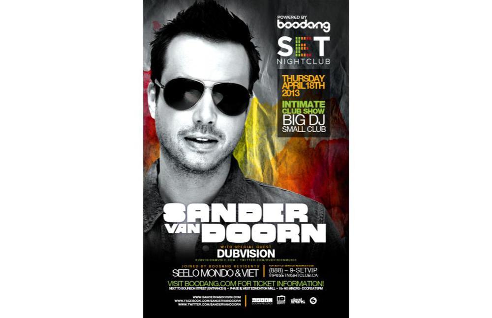 Sander Van Doorn, Dubvision, Seelo Mondo & Viet Set Nightclub Edmonton