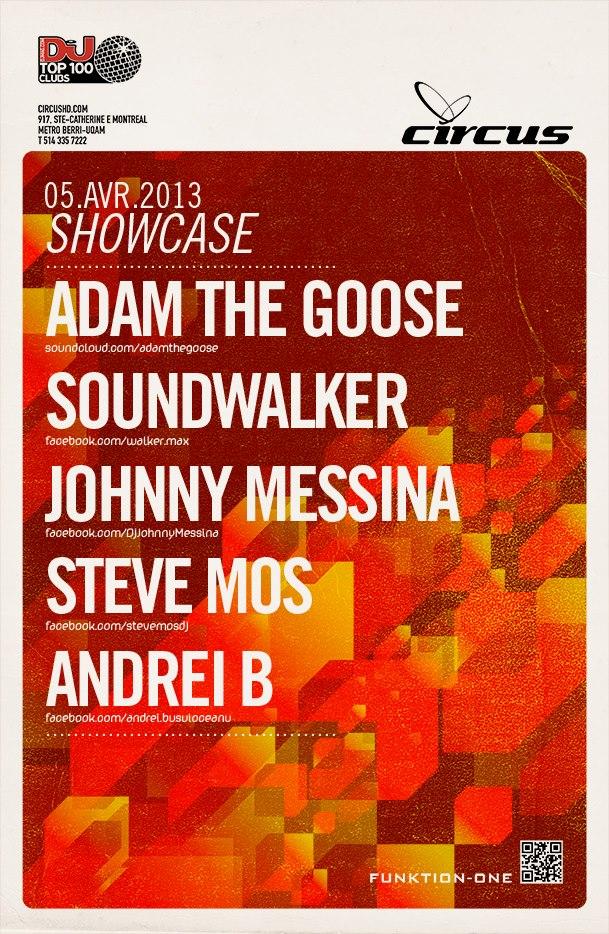 Adam The Goose, Soundwalker, Johnny Messina, Steve Mos, Andrei B Circus Montreal