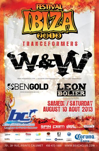 W&W, Ben Gold, Leon Bolier Beach Club Quebec
