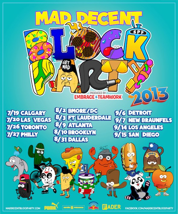 Mad Decent Block Party 2013 Toronto and Calgary