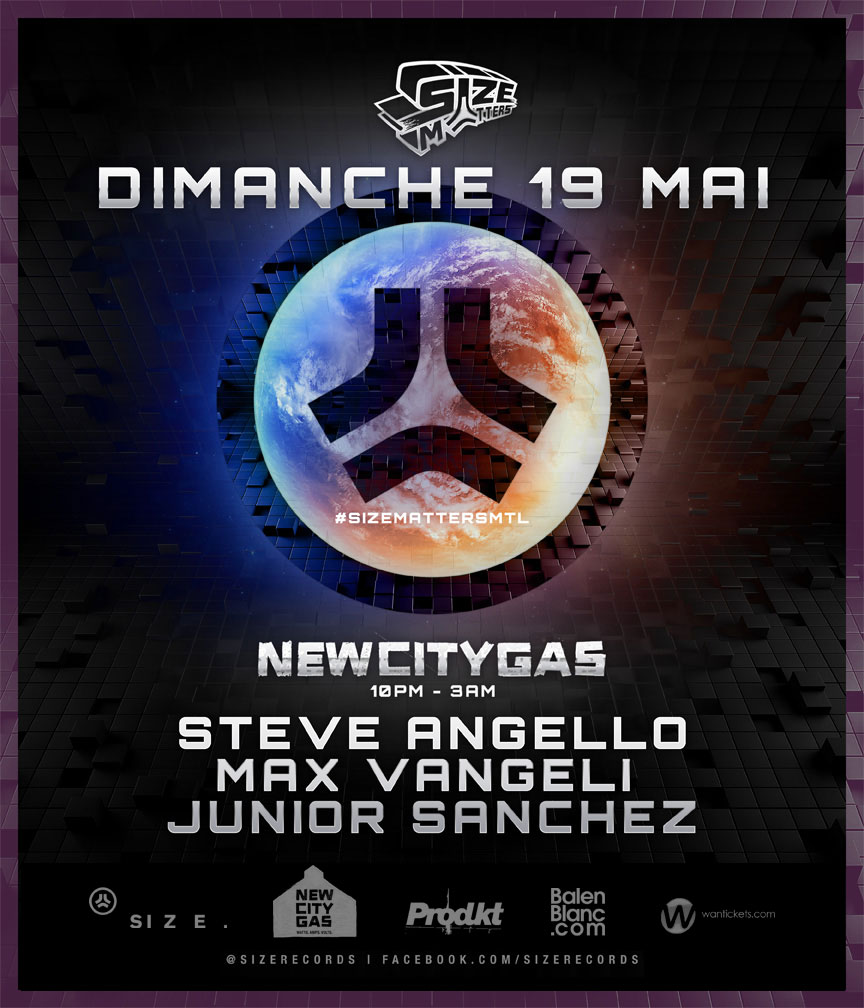 Steve Angello, Max Vangeli, Junior Sanchez New City Gas Montreal