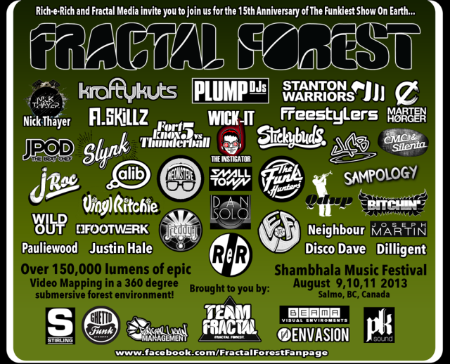 Shambhala 2013 lineup The Fractal Forest