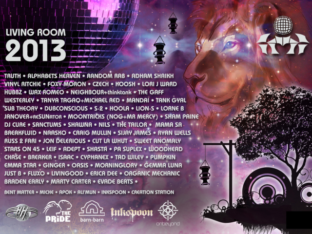 Shambhala 2013 lineup The Living room