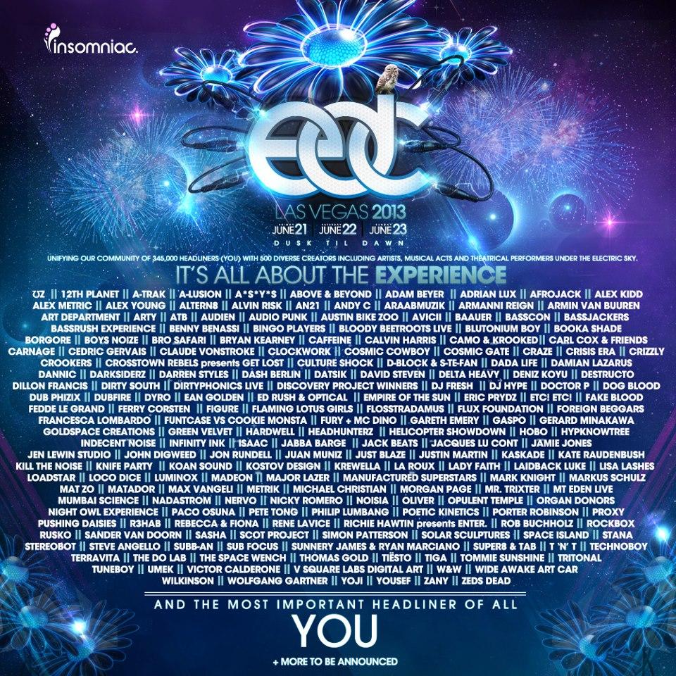 EDC Las Vegas 2013 lineup