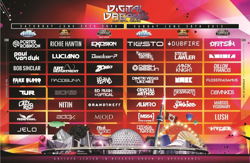 Digital Dreams full lineup