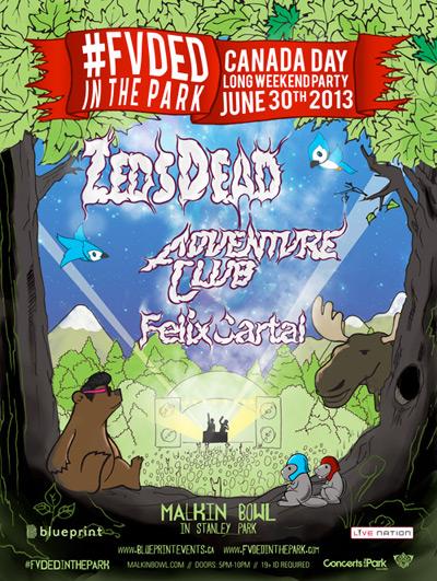 Zeds Dead, Adventure Club, Felix Cartal Malkin Bowl Stanley Park Vancouver