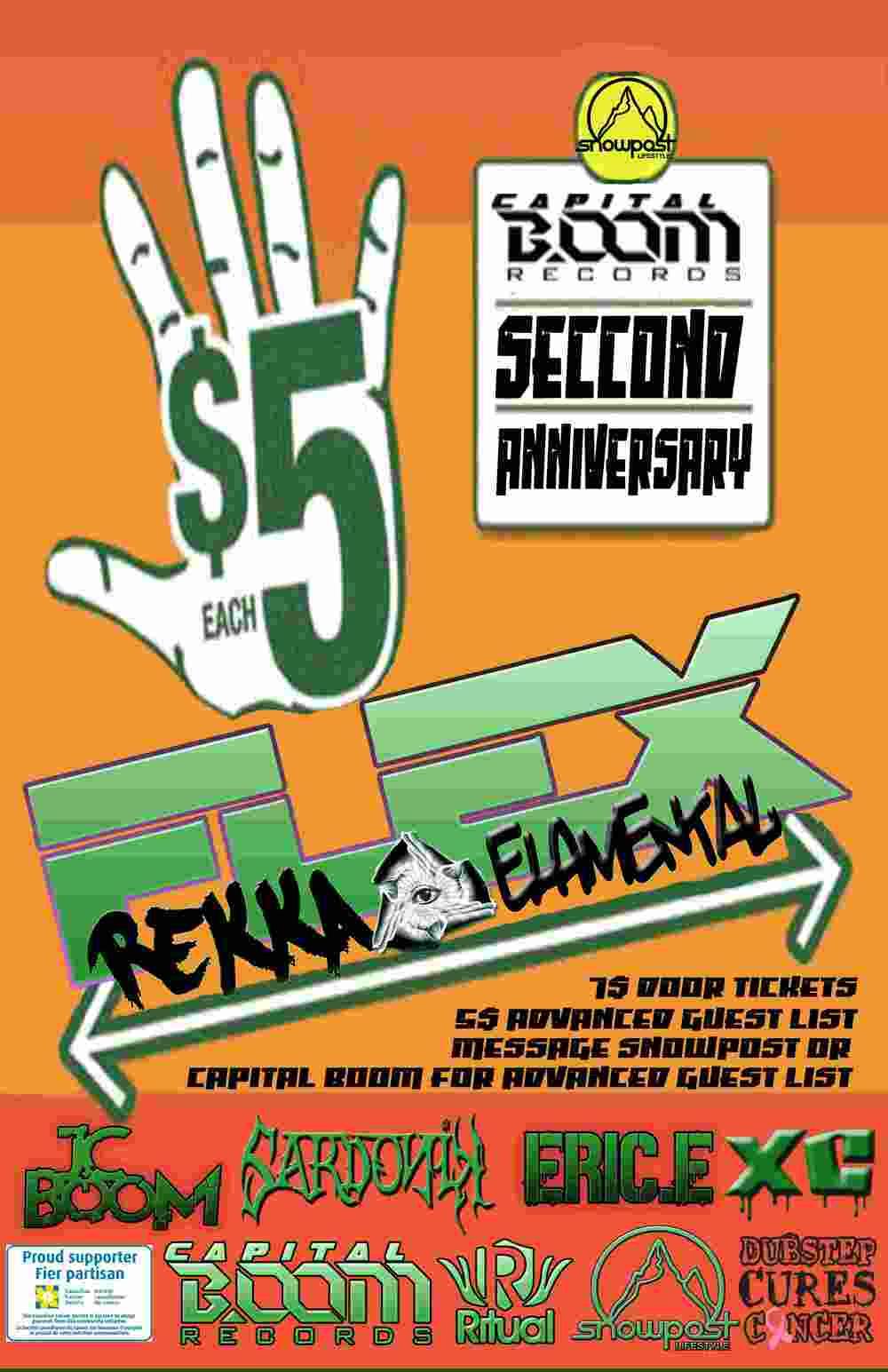 Rekka & ElaMental, JC Boom, Sardonik, Eric E, XC Ritual Nightclub Ottawa