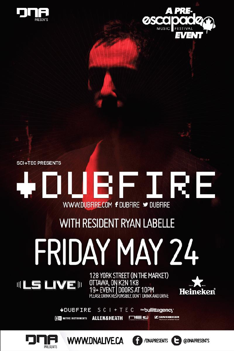 Dubfire w/ Shaded LS Live Ottawa