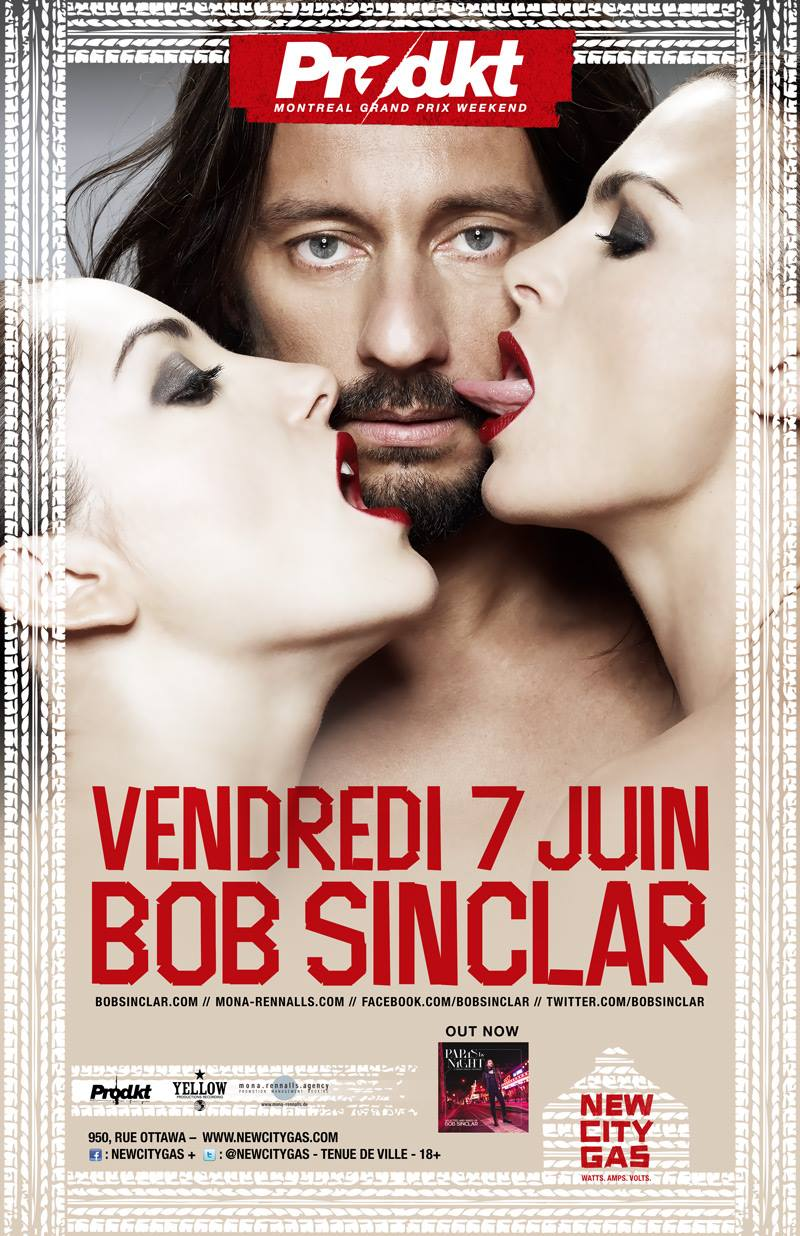 Bob Sinclar New City Gas Montreal