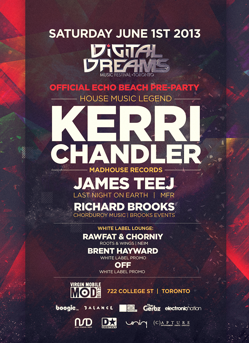 Kerri Chandler, James Teef, Rafwat & Chorniy, Brent Hayward, Off The Mod Club Theatre Toronto