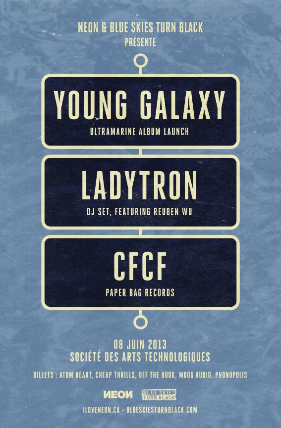 Young Galaxy & Ladytron (DJ Set), CFCF SAT Montreal