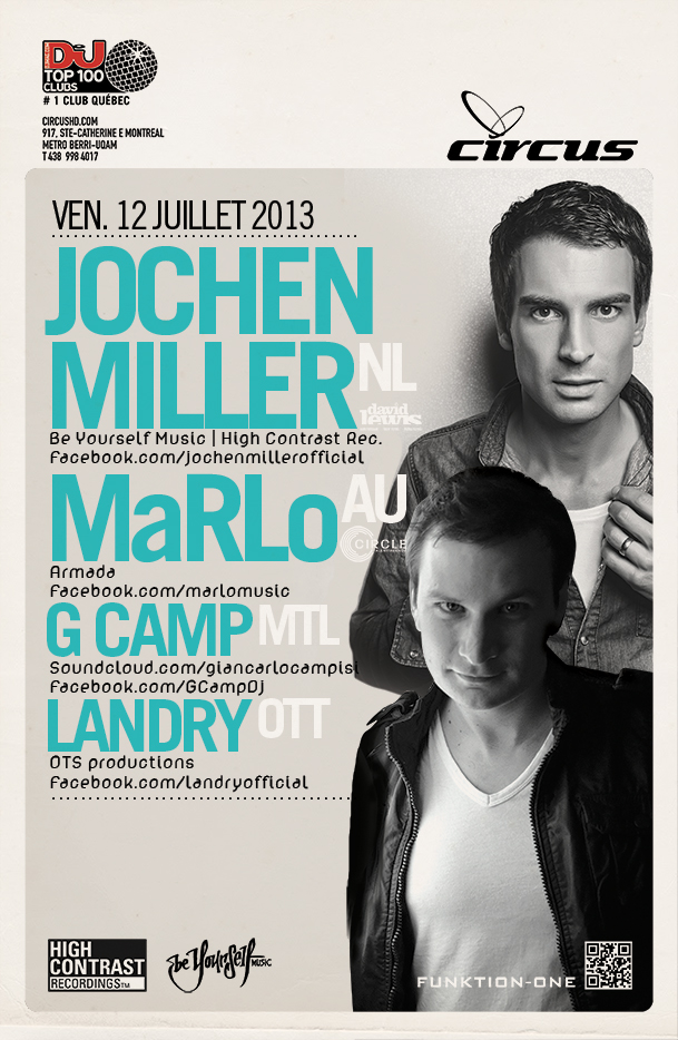 Jochen Miller, Marlo, G Camp, Landry Circus Afterhours Montreal