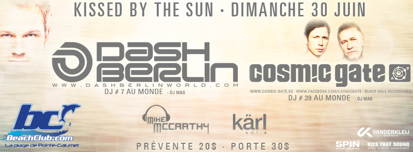Dash Berlin with Cosmic Gate at the Beach Club Montreal