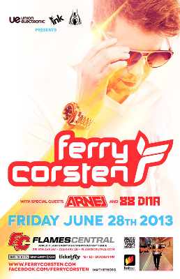 Ferry Corsten with Arnej Flames Central