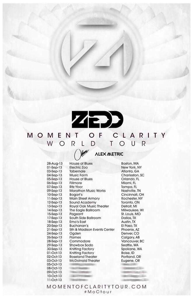 Zedd w/ Oliver & Alex Metric Calgary