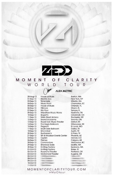Zedd Moment of Clarity Tour