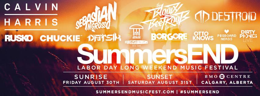 Calvin Harris, Sebastian Ingrosso, Bloody Beetroots Live, Destroid Live, Rusko, Chuckie, Datsik, Infected Mushroom, Borgore, Dirtyphonics Live, Otto Knows, Pegboard Nerds BMO Centre