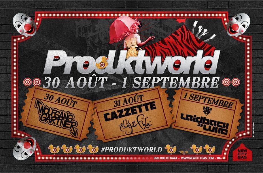 Woflgang Gartner, Cazzette, Aly & Fila, Laidback Luke at New City Gas Montreal Produktworld