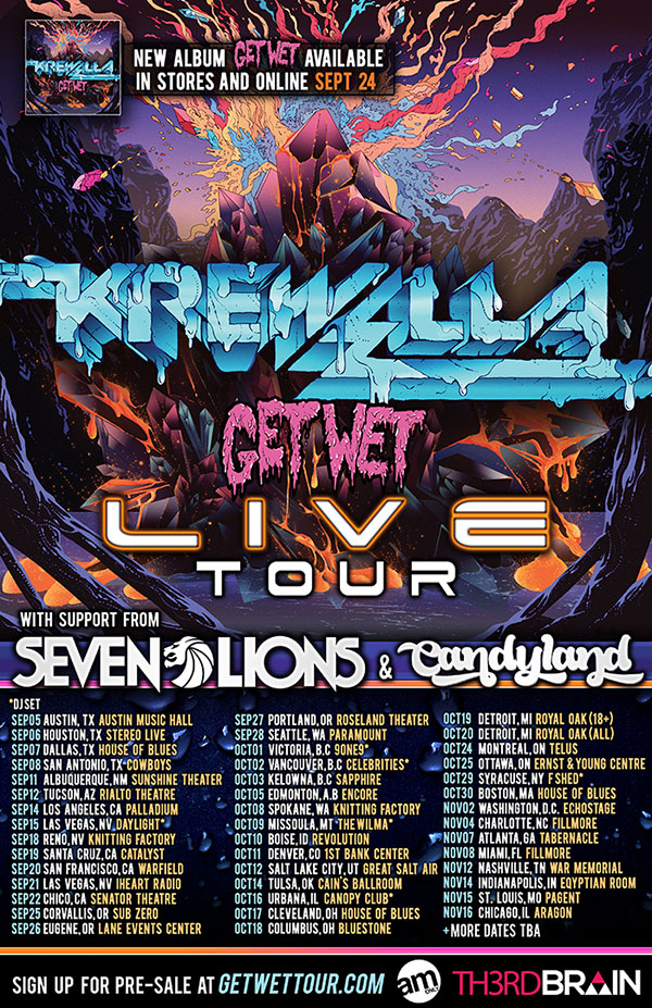 Krewella Get Wet Tour