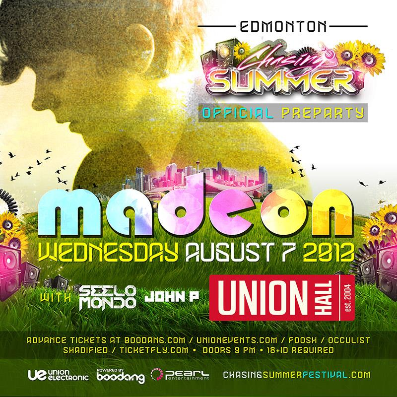 Madeon Union Hall Edmonton