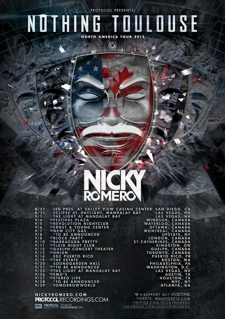Nicky Romero Vicetone North American Tour