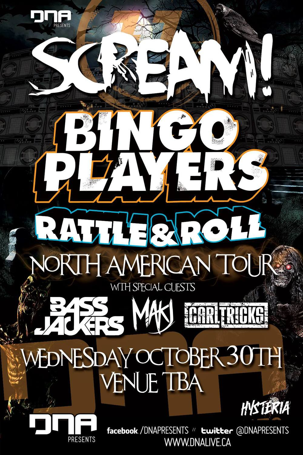 Bingo Players, Bassjackers, MAKJ, Carl Tricks Ottawa