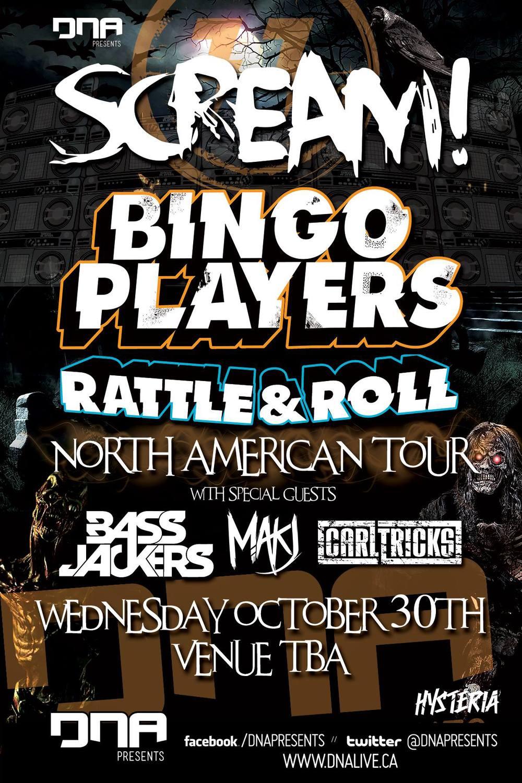 Bingo Players, Bassjackers, MAKJ, Carl Tricks Ottawa