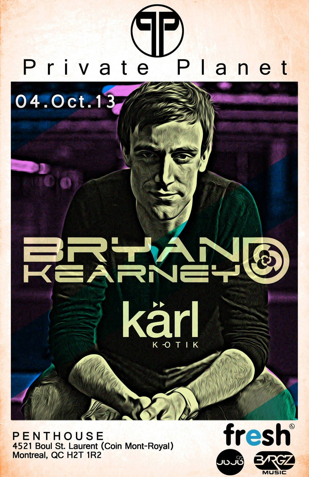 Bryan Kearney at the Penthouse in Montreal