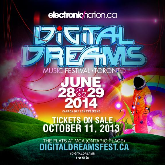 Digital Dreams 2014 - Toronto EDM Festival over Canada Day Weekend