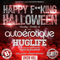 Autoerotique + Huglife (DJ Slink) at Union Hall over Halloween in Edmonton