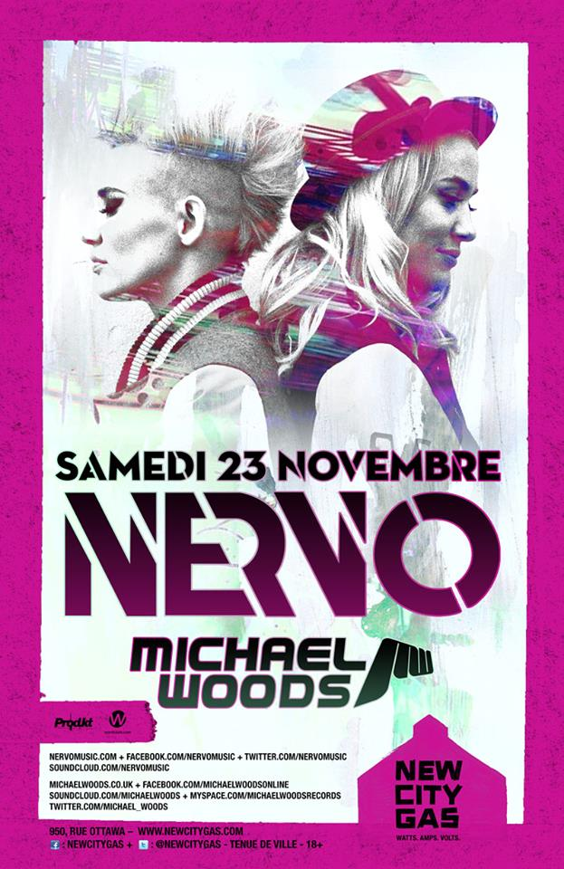 Nervo w/ Michael Woods in Montreal at New City Gas