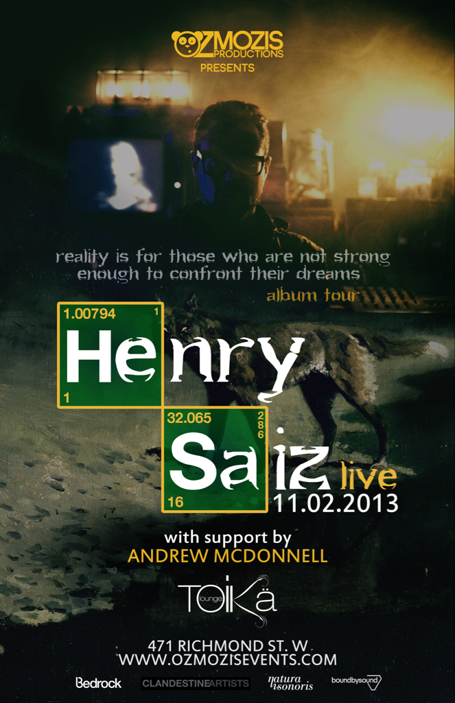 Henry Saiz (Live) at Toika Lounge in Toronto