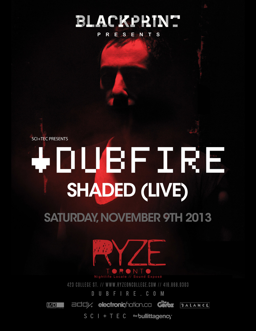 Dubfire w/ Shaded (live)  at Ryze Toronto