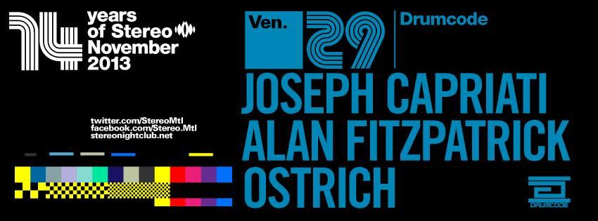 Joseph Capriati, Alan FitzPatrick w/ Ostrich Stereo Montreal