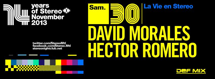 David Morales and Hector Romero at Stereo Montreal