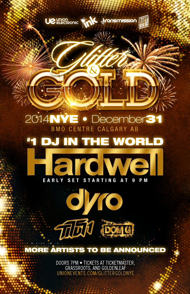 Hardwell, Dyro, Dom G + More New Year's Eve party in Calgary at the BMO Centre