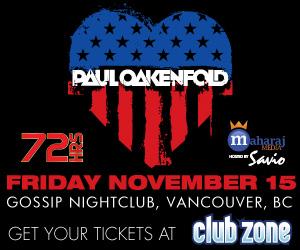 Paul Oakenfold at Gossip Nightclub in Vancouver