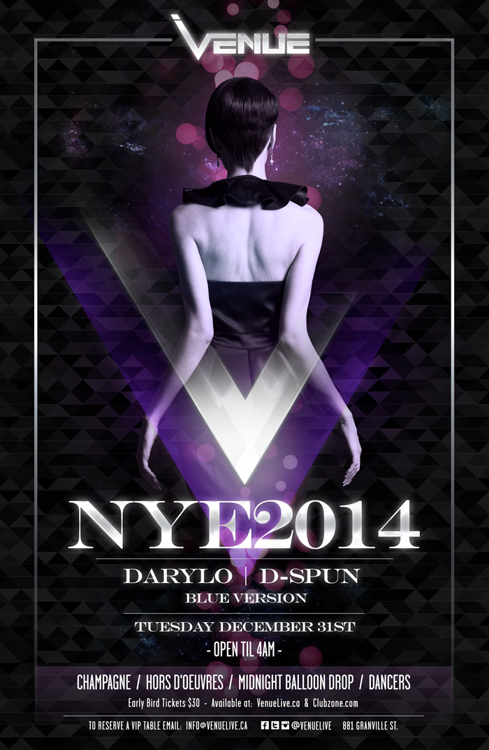 Darylo, D-Spin, Blue Version at Venue NYE 2014 Vancouver