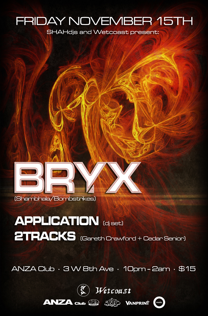 Bryx, Application, 2Tracks at Anza Club Vancouver