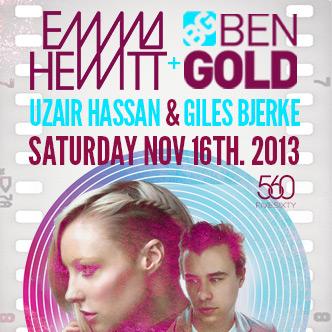 Emma Hewitt w/ Ben Gold, Uzhair Hassan, Giles Bjerke at FIVE Sixty Vancouver