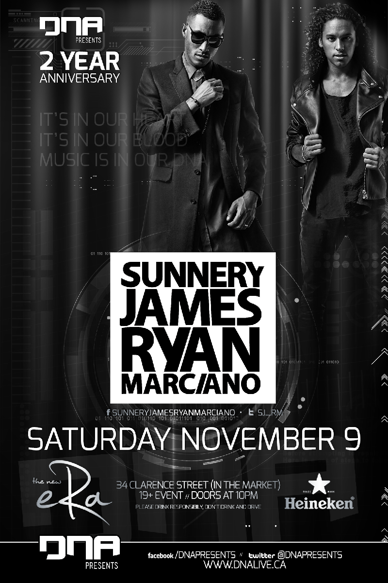 Sunnery James & Ryan Marciano in Ottawa at ERA Nightclub