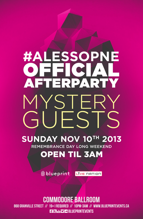 Mystery guests Alesso after party Vancouver