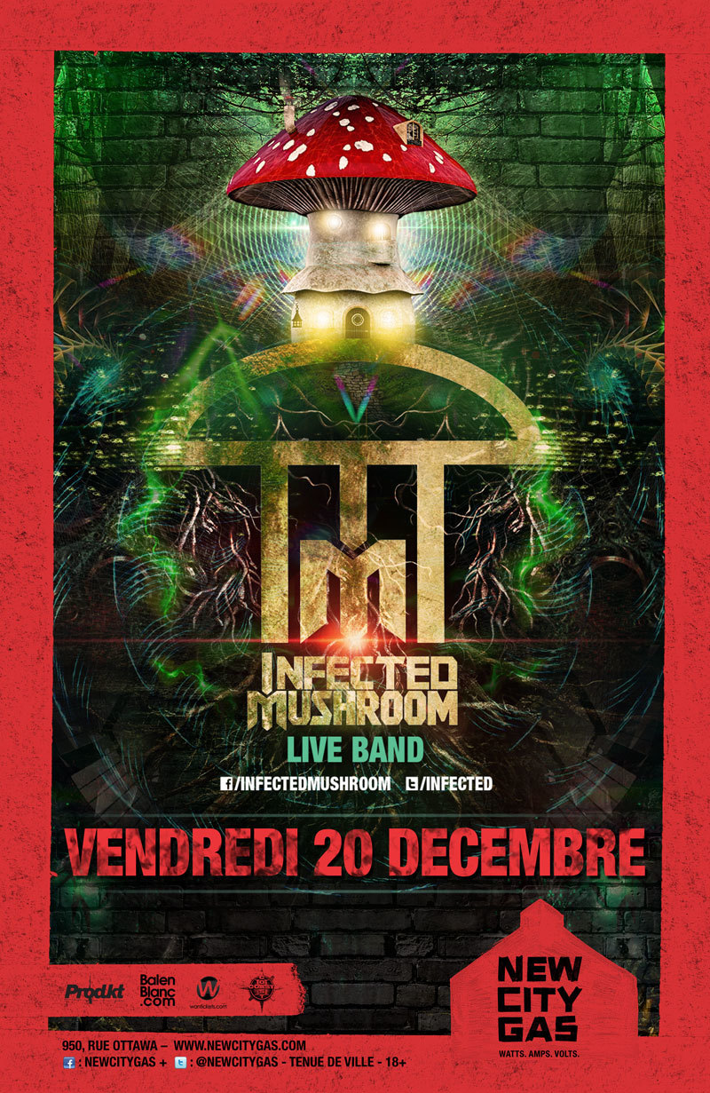 Infected Mushroom (LIVE BAND) at New City Gas
