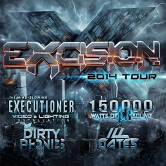 Excision w/ Dirtyphonics, Ill Gates in Toronto at the Sound Academy